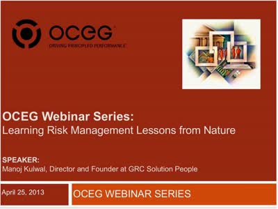 Learning Risk Management Lessons from Nature
