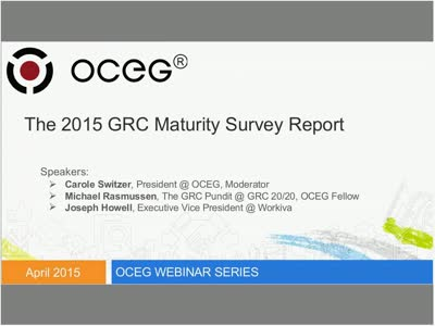 Findings from the OCEG 2015 GRC Maturity Survey
