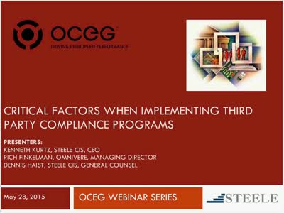 Critical Factors When Implementing Third Party Compliance Programs Edit