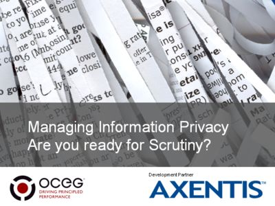 Managing Information Privacy