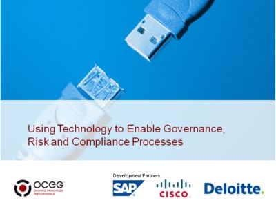 Using Technology to Enable Governance, Risk and Compliance Processes