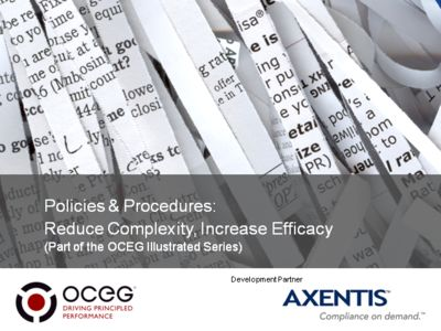 Policies & Procedures: Reduce Complexity, Increase Efficacy