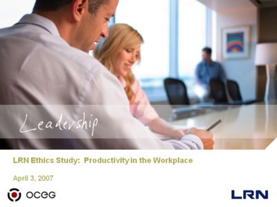 LRN Ethics Study:  Productivity in the Workplace