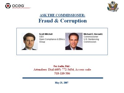 ASK THE COMMISSIONER: Fraud & Corruption