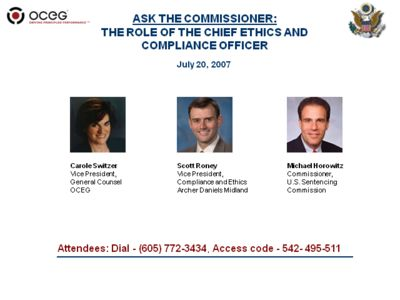 ASK THE COMMISSIONER: The role of the Chief Ethics and Compliance Officer