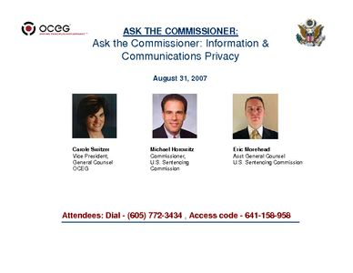 ASK THE COMMISSIONER: Information and Communications Privacy