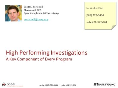 High Performing Investigations