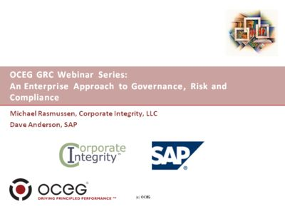 An Enterprise Approach to Governance, Risk and Compliance