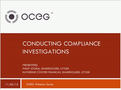 Conducting Compliance Investigations