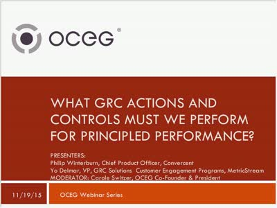 What Actions and Controls Must we Perform to Achieve Principled Performance GRC Capabilities Illustrated Series