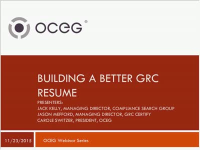 Building a Better GRC Resume