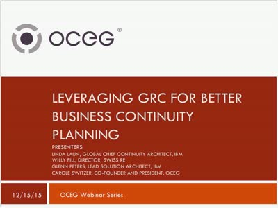 Leveraging GRC for Better Business Continuity Planning