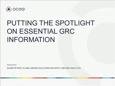 Putting the Spotlight on Essential GRC Information