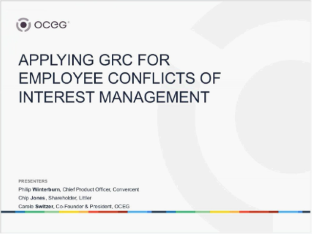 GRC for Conflict of Interest Management