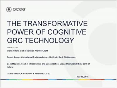 The Transformative Power of Cognitive GRC Technology