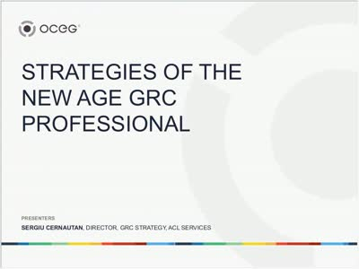 Strategies of the New Age GRC Professional