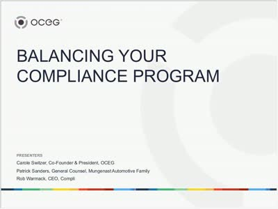Balancing Your Compliance Program  The Power of Automated Workforce Execution