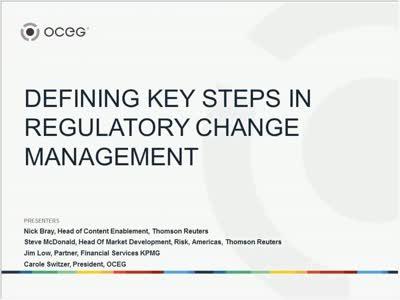 Defining Key Steps in Regulatory Change Management