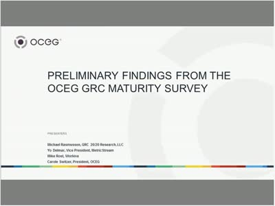 Preliminary Findings from the OCEG GRC Maturity Survey