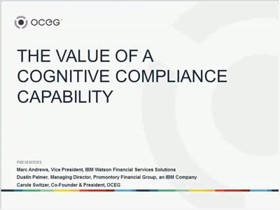 The Value of a Cognitive Compliance Capability