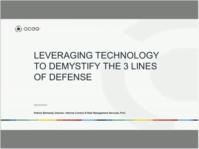 Leveraging Technology to Demystify the 3 Lines of Defense